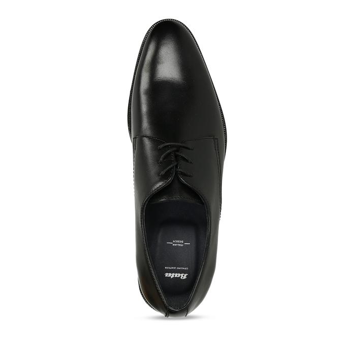 Černé pánské kožené společenské polobotky bata, černá, 824-6736 - 17