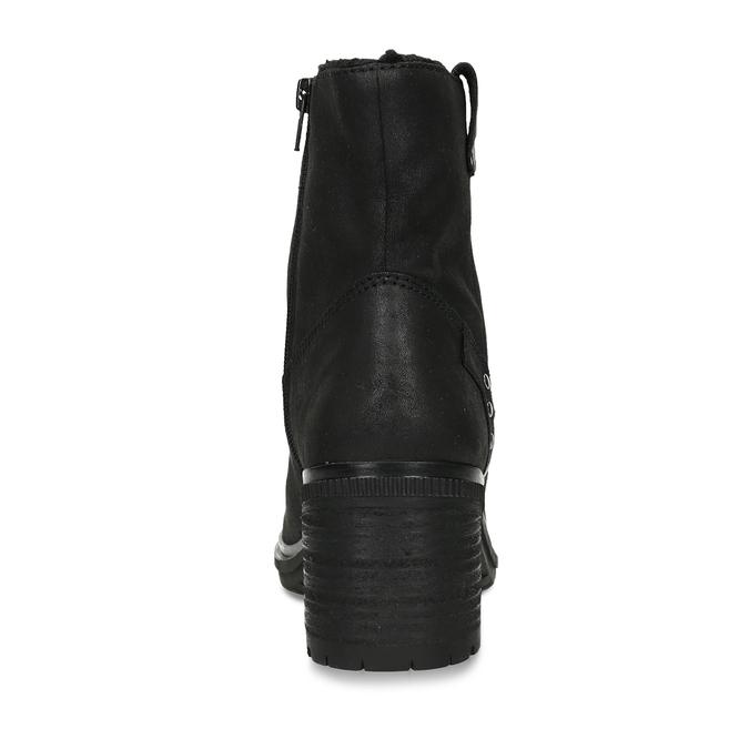 Dámská kotníková obuv s kožíškem v černé barvě bata, černá, 599-6611 - 15