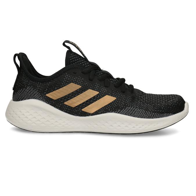 Sportovní tenisky s černým žíháním a zlatými pruhy adidas, černá, 509-6442 - 19