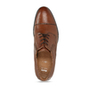 Hnědé kožené derby polobotky s prošitím na špici bata, hnědá, 826-3700 - 17