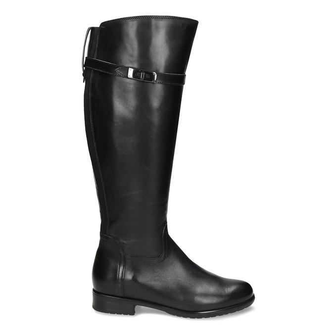 Černé kožené kozačky ve vojenském stylu bata, černá, 594-6702 - 19