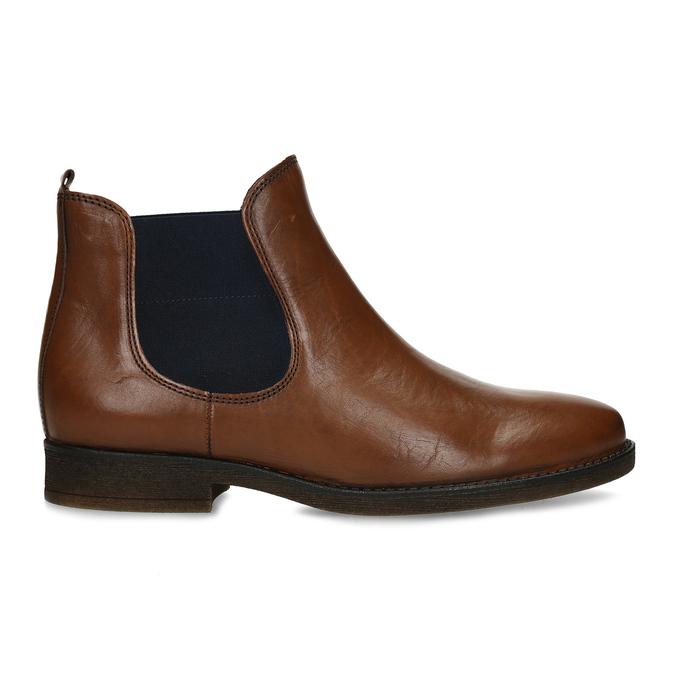 Dámská hnědá kožená Chelsea obuv s nízkým podpatkem gabor, hnědá, 594-3360 - 19