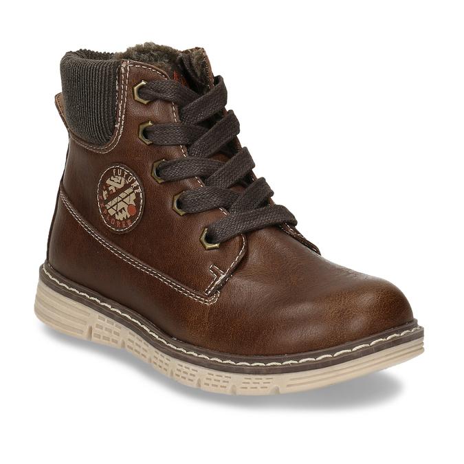 Tmavě hnědá chlapecká zimní kotníková obuv mini-b, hnědá, 211-4618 - 13