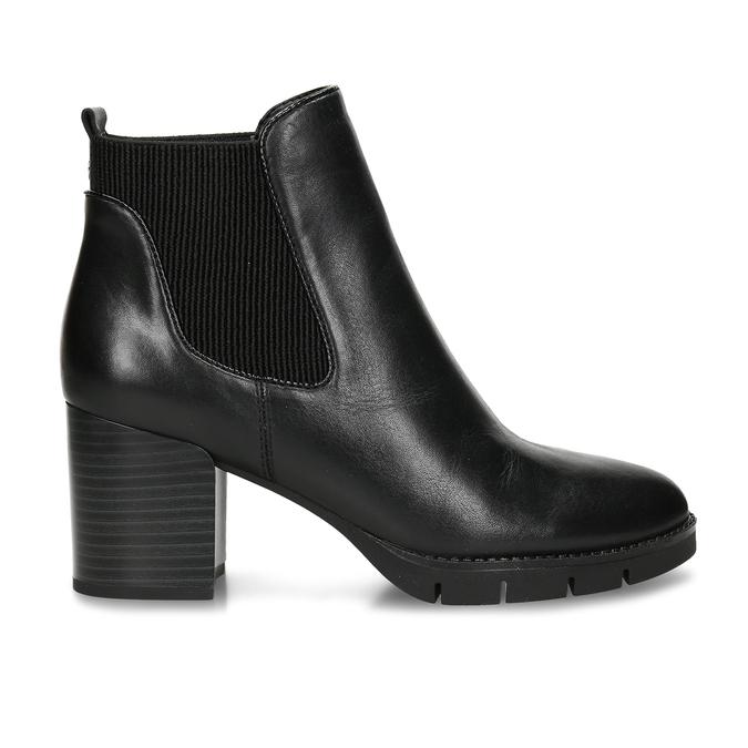 Dámská kožená obuv ve stylu Chelsea Boots se stabilním podpatkem flexible, černá, 794-6631 - 19