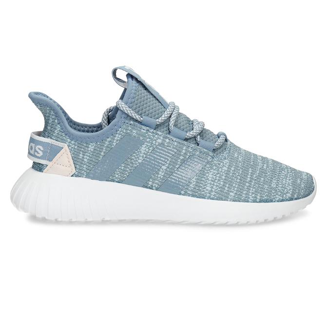 Modré dámské tenisky s pleteným svrškem adidas, modrá, 509-9186 - 19
