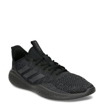 Pánské tenisky s černým pleteným svrškem adidas, černá, 809-6911 - 13
