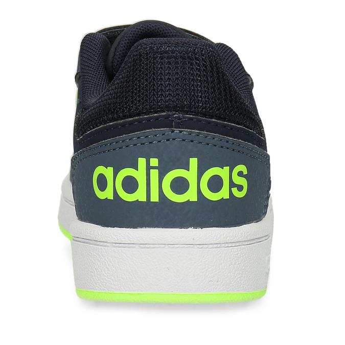 Dětské tenisky se žlutozelenými proužky adidas, modrá, 301-9331 - 15