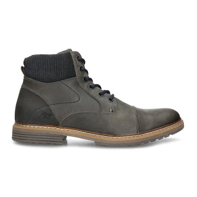 Pánská zimní obuv v šedé kůži bata, šedá, 896-2727 - 19