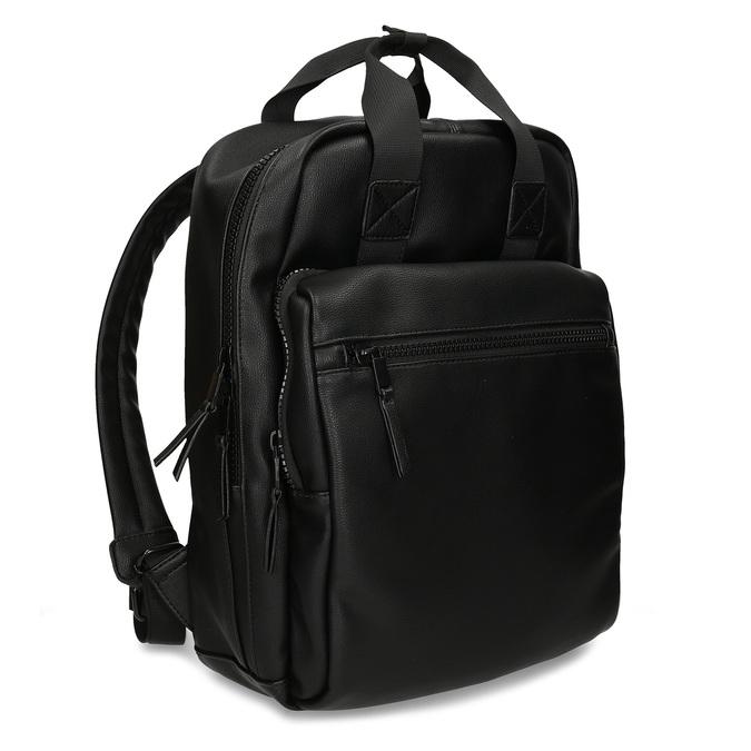 Černý unisex městský batoh bata, černá, 961-6772 - 13