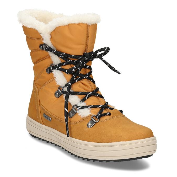 Zimní dámská obuv s huňatým kožíškem bata, žlutá, 599-8630 - 13