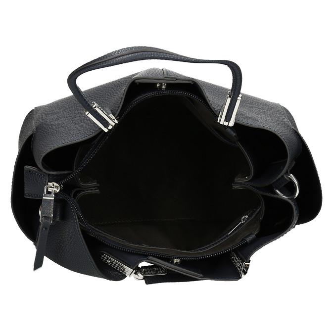 Dámská kabelka s kapsičkami po stranách bata, modrá, 961-9610 - 15