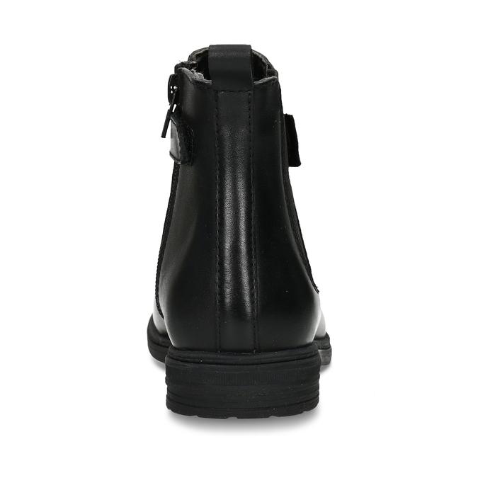 Černá dívčí kožená Chelsea obuv mini-b, černá, 424-6601 - 15