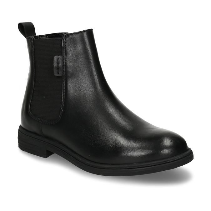 Černá dívčí kožená Chelsea obuv mini-b, černá, 424-6601 - 13