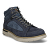 Pánská kotníková obuv v modré kůži se šněrováním weinbrenner, modrá, 846-9621 - 13
