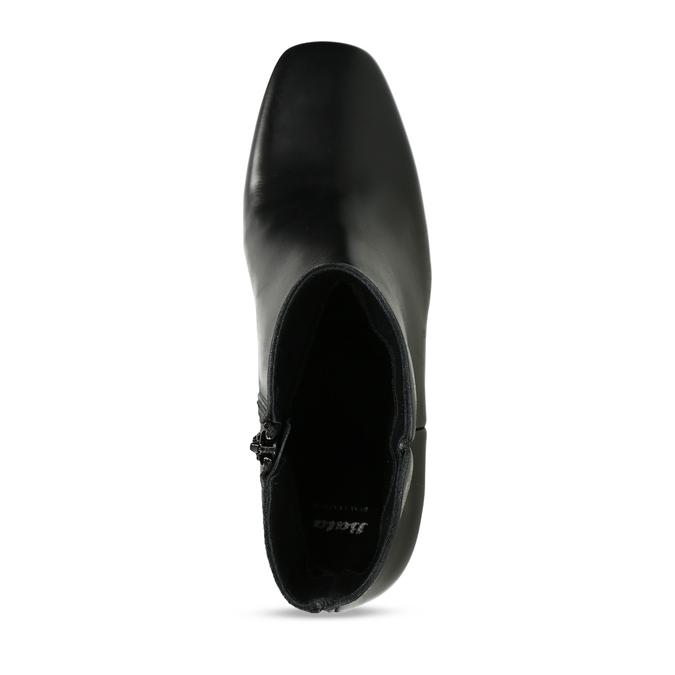 Dámská kotníková obuv v černé kůži bata, černá, 794-6636 - 17