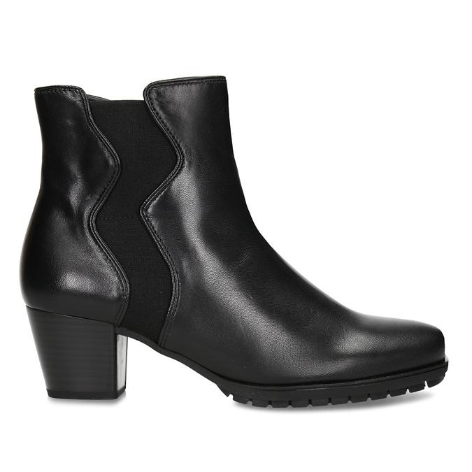 Černá dámská kožená obuv v Chelsea stylu gabor, černá, 694-6101 - 19