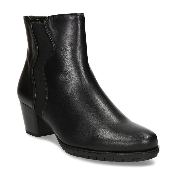 Černá dámská kožená obuv v Chelsea stylu gabor, černá, 694-6101 - 13