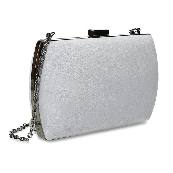 Šedá kabelka s kovovým zapínáním i uchem bata, šedá, 961-2915 - 13