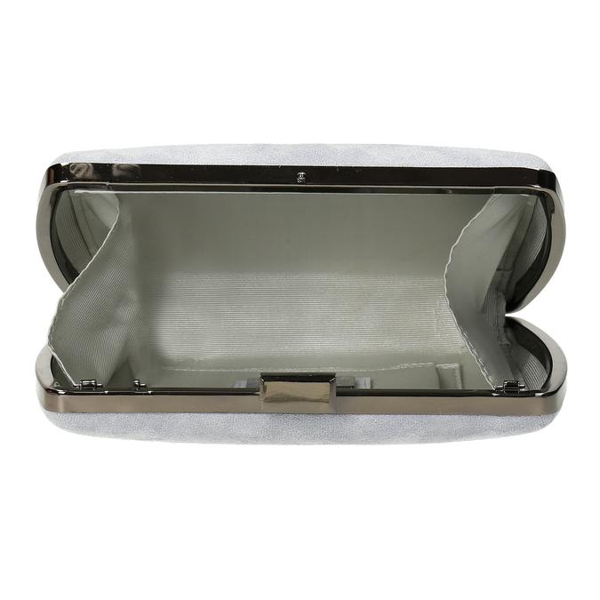 Šedá kabelka s kovovým zapínáním i uchem bata, šedá, 961-2915 - 15