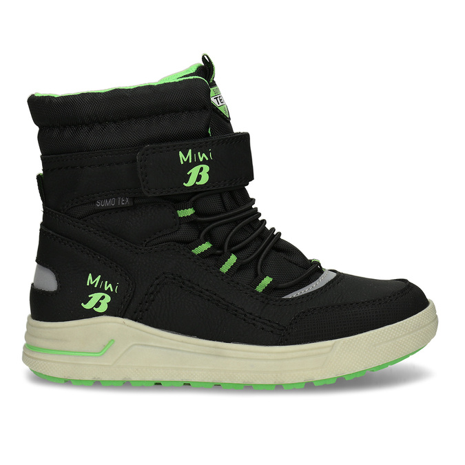 Chlapecké černo-zelené sněhule mini-b, černá, 311-6602 - 19
