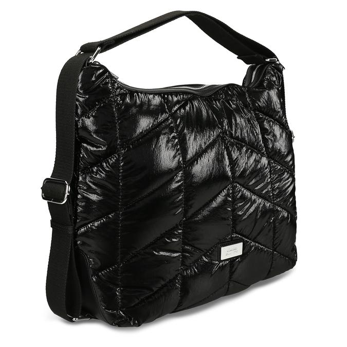Černá prošívaná kabelka s nastavitelným uchem bata, černá, 961-1617 - 13