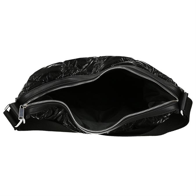 Černá prošívaná kabelka s nastavitelným uchem bata, černá, 961-1617 - 15