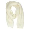 Béžová pletená šála bata, bílá, 909-1691 - 26