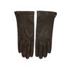 Tmavě hnědé dámské kožené rukavice junek, hnědá, 944-4212 - 26