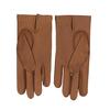 Světle hnědé dámské kožené rukavice s řasením junek, hnědá, 944-3118 - 16