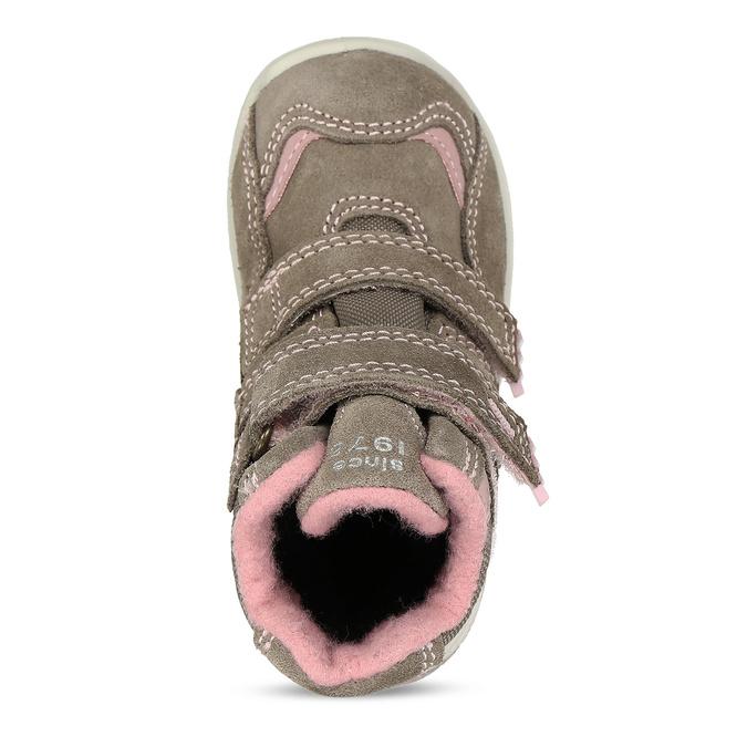 Světle hnědá dívčí kotníková obuv na suchý zip primigi, hnědá, 123-4626 - 17