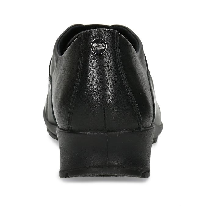Černá kožená dámská obuv s pružením na nártu comfit, černá, 524-6640 - 15
