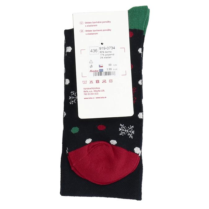 Vánoční ponožky s motivem vloček bata, vícebarevné, 919-0734 - 16