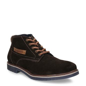 Hnědá neformální kotníková obuv kožená bugatti, hnědá, 893-4892 - 13