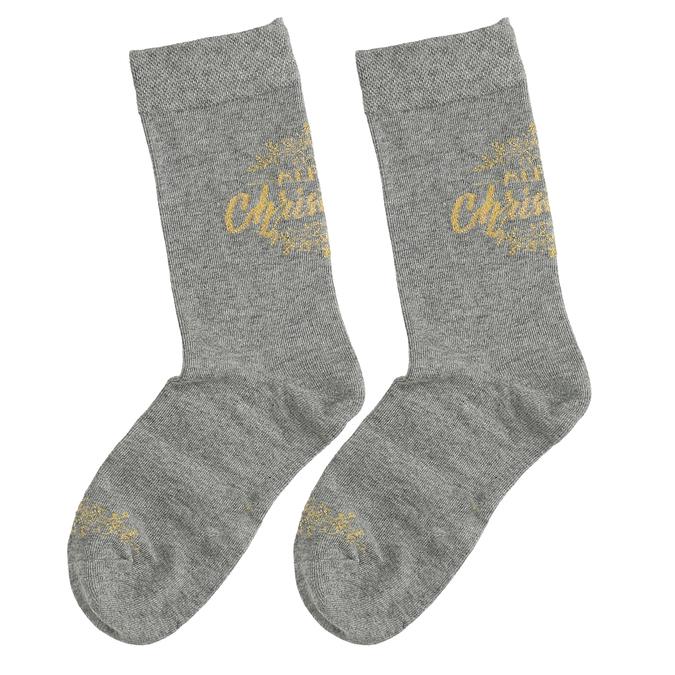 Sady tří dámských vánočních ponožek bata, zlatá, 919-0917 - 16