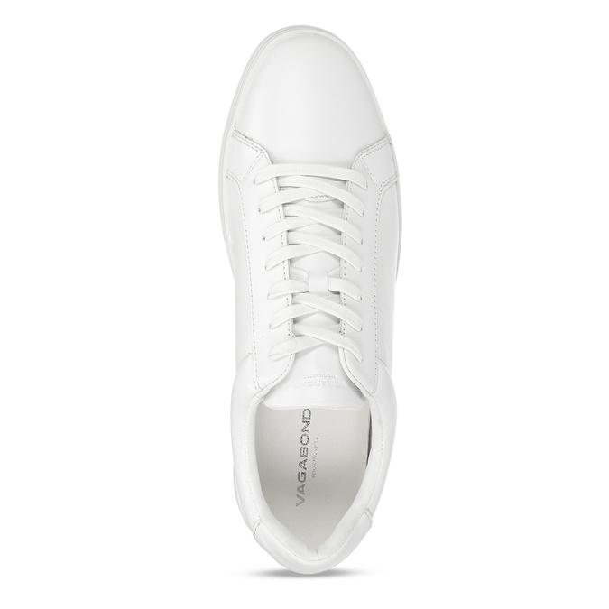 Bílé pánské kožené tenisky vagabond, bílá, 844-1602 - 17