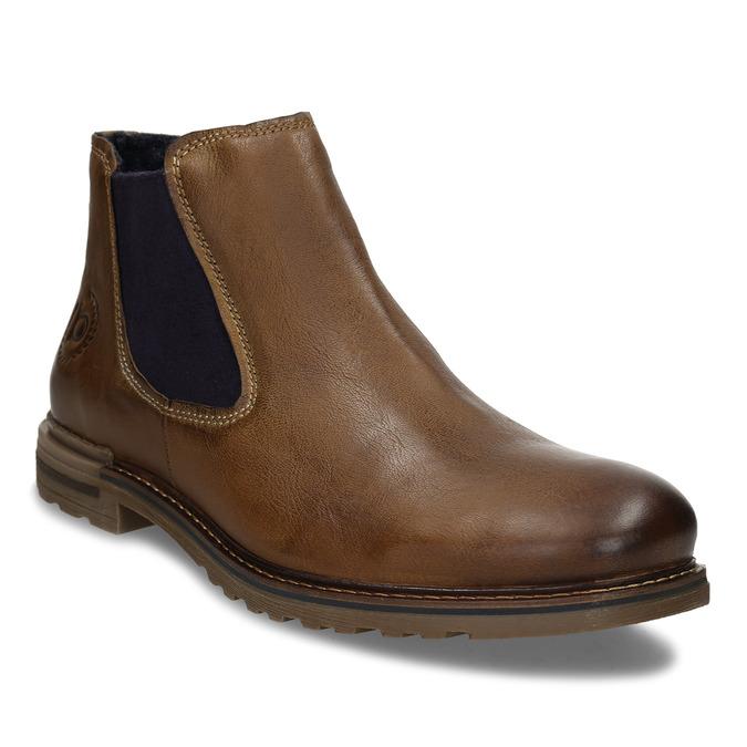 Hnědá pánská kožená Chelsea obuv bugatti, hnědá, 896-4893 - 13