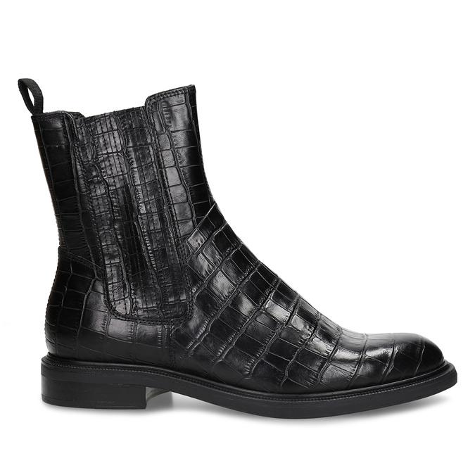 Černá kožená dámská Chelsea obuv vagabond, černá, 594-6699 - 19