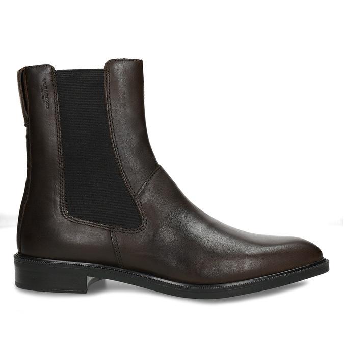 Tmavě hnědá dámská Chelsea obuv kožená vagabond, hnědá, 594-4629 - 19