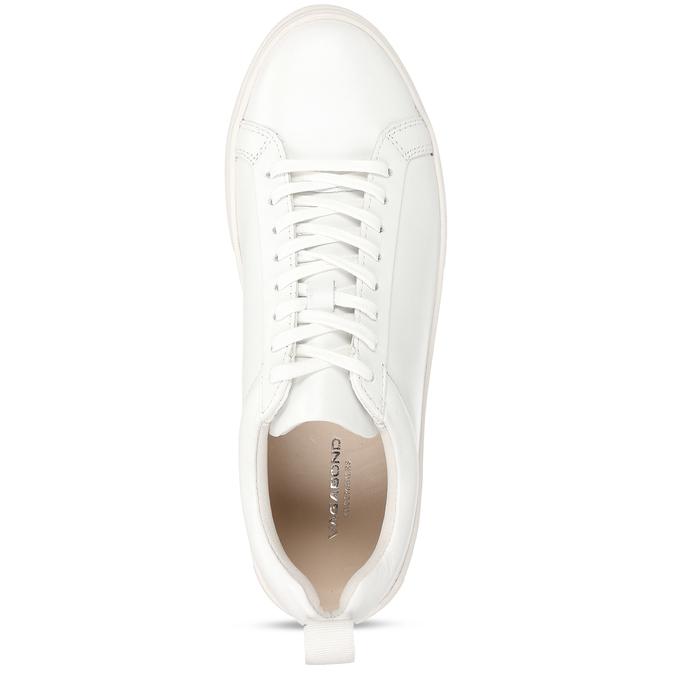 Bílé dámské kožené tenisky vagabond, bílá, 544-1609 - 17