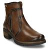 Hnědá dámská kožená kotníková obuv pikolinos, hnědá, 696-4628 - 13