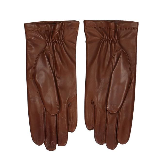 Pánské kožené rukavice v kaštanové barvě junek, hnědá, 944-4105 - 16