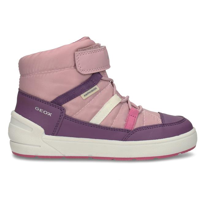 Růžovo-fialové dívčí zimní tenisky geox, růžová, 399-5376 - 19
