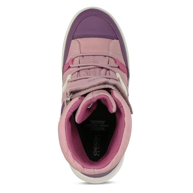 Růžovo-fialové dívčí zimní tenisky geox, růžová, 399-5376 - 17