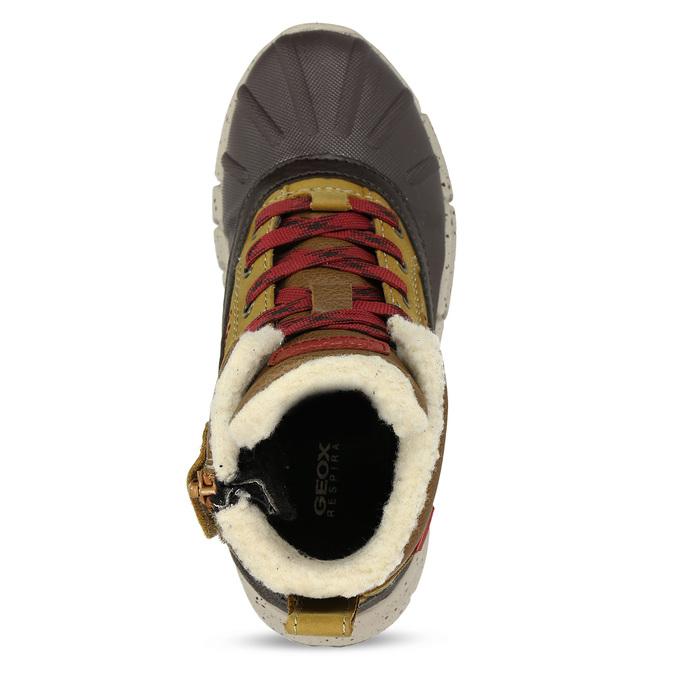 Hnědá chlapecká kotníková zimní obuv geox, hnědá, 391-8378 - 17