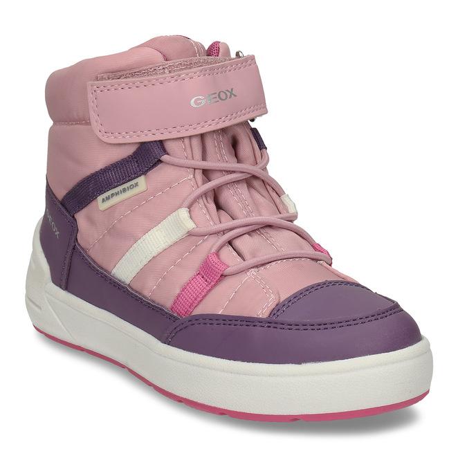 Růžovo-fialové dívčí zimní tenisky geox, růžová, 399-5376 - 13