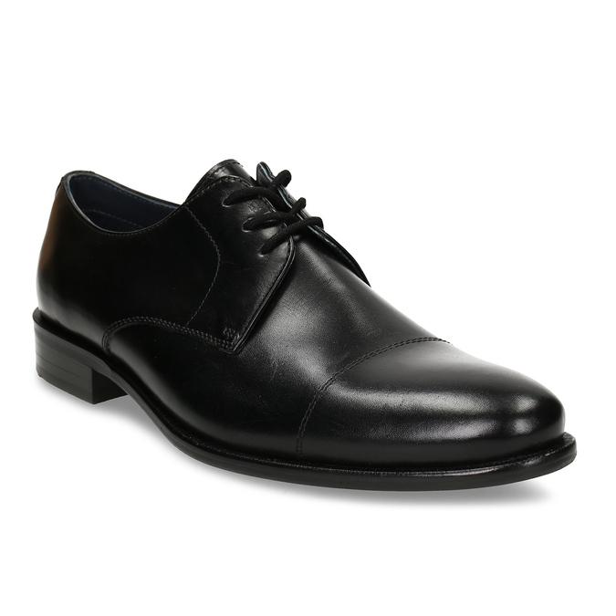 Černé kožené polobotky v derby stylu bata, černá, 824-6657 - 13