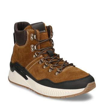 Hnědá pánská kožená kotníková obuv na zimu bata, hnědá, 893-3620 - 13
