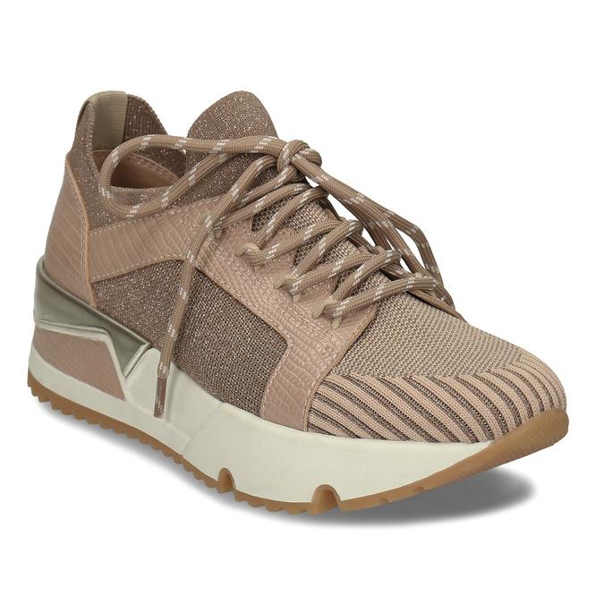 Dámské béžové tenisky na flatformě bata, béžová, 549-8616 - 13