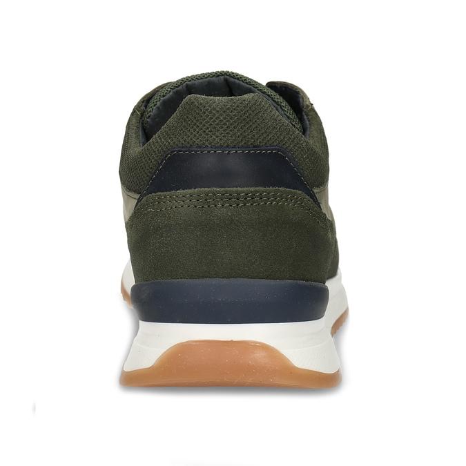Khaki kožené pánské tenisky v městském stylu bata, zelená, 846-7615 - 15