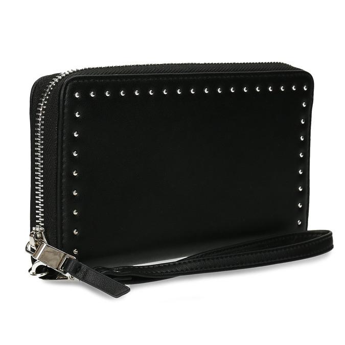Černá dámská peněženka s aplikací bata, černá, 941-6124 - 13